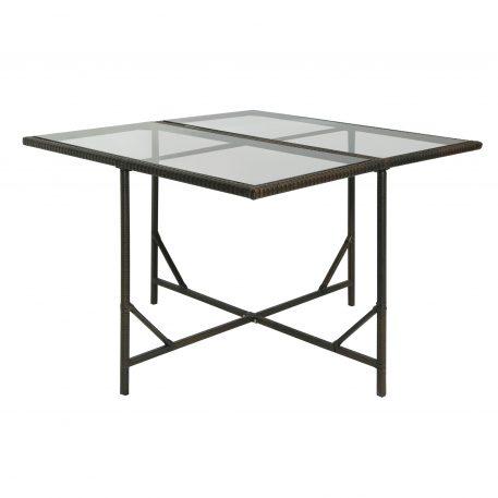 Outdoor Rattan Wicker Patio Dining Table Set 9-Piece