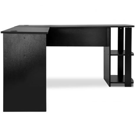 L-Shaped Computer Desk With Side Storage