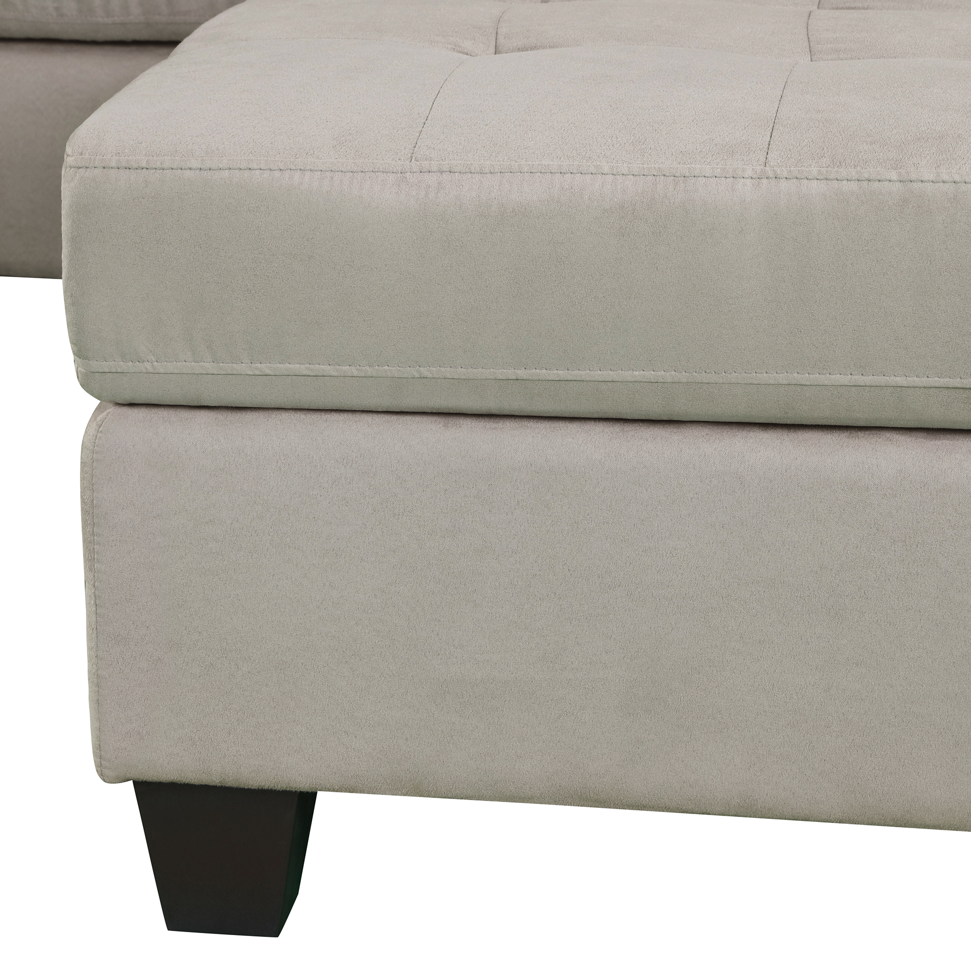 3-Piece Sectional Sofa With Chaise Lounge And Storage Ottoman