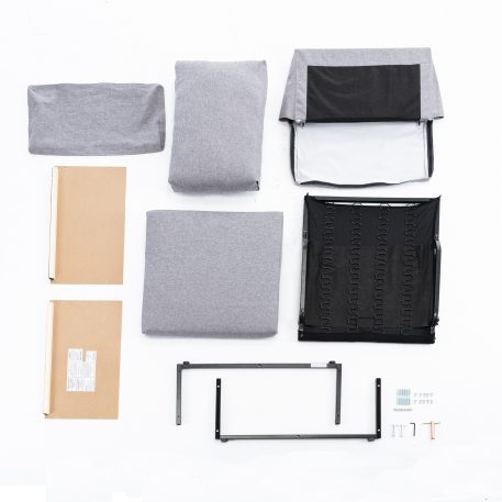 2-seat Sofa Couch With Modern Linen Fabric