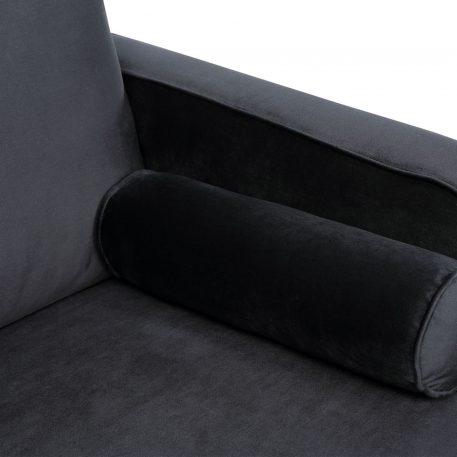 U-Shape Upholstered Couch with Modern Elegant Velvet Black