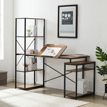 5-Tier Bookshelf And 2 Open Storage Shelf