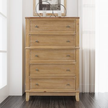 Chic Hazel 5 Drawers Chest Solid Wood