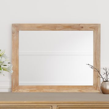 Chic Hazel Wood Mirror