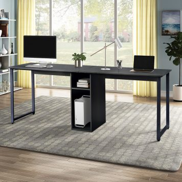 Home Office 2-Person Desk With Storage