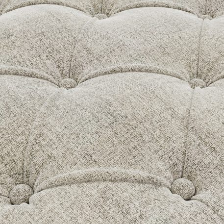 68 Linen Tufted Chaise Lounge With 1 Bolster Pillow