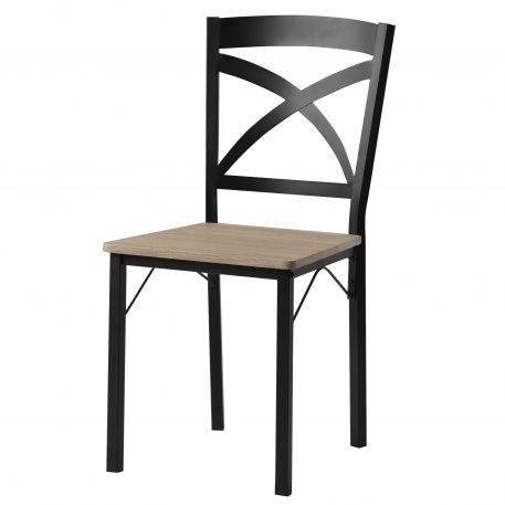 5-Piece Industrial Wooden Dining Set With Metal Frame And 4 Ergonomic Chairs