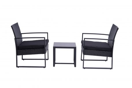 Modern 3 Pieces Patio Sets With Coffee Table