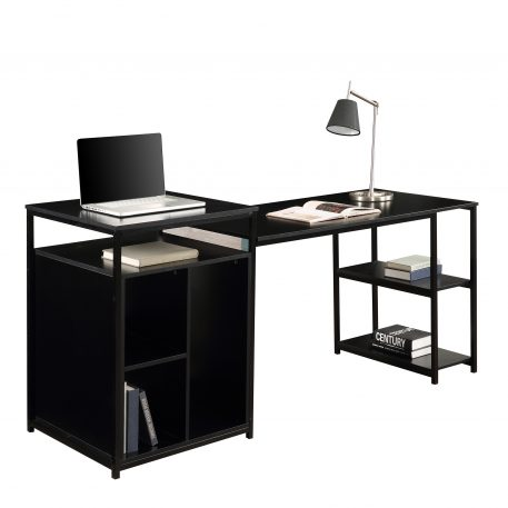 Home Office Computer Desk With Storage Shelf ,CPU Storage Space And Printer Stand