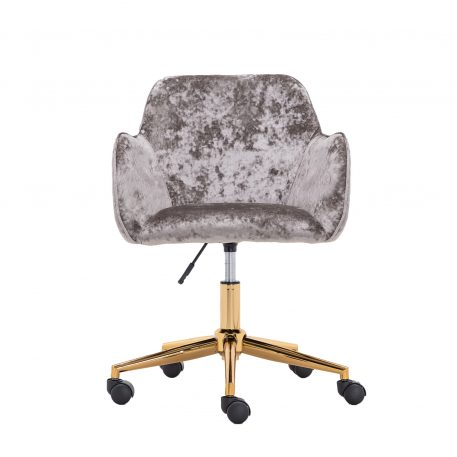 Home Office Chair with Gold Metal Legs