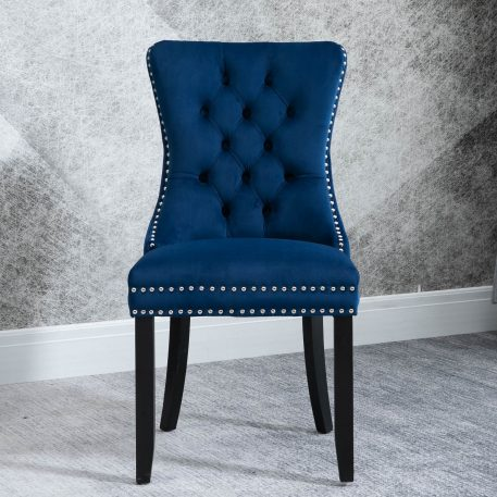 High-End Tufted Solid Wood Dining Chair 2 Pcs