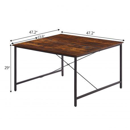 47 X 47 Inch Two Person Desk Double Workstation Desk