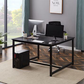 2 People Office Desk Writing Desk Black