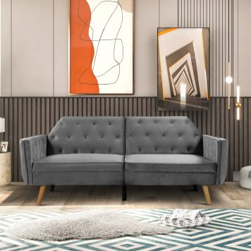 Modern Convertible Folding Futon Lounge Couch