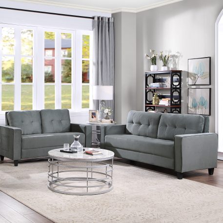 Morden Style Upholstered Sectional Sofa Set, 2+3 Seat
