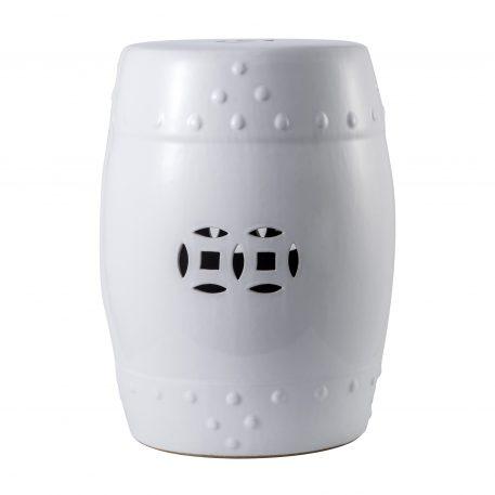 White Ceramic Garden Stools 4054