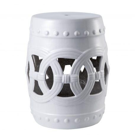 White Ceramic Garden Stools 4061