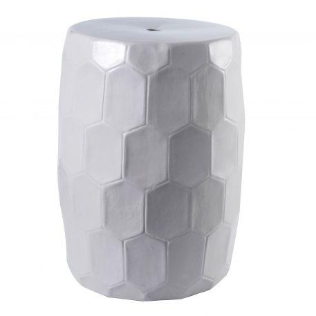 White Ceramic Garden Stools 4071