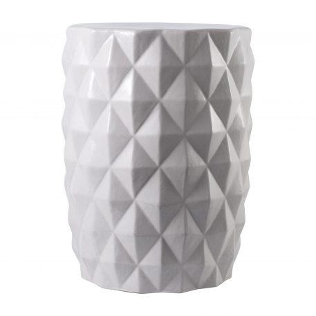 White Ceramic Garden Stools 4072