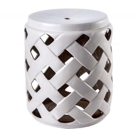 White Ceramic Garden Stools 4068
