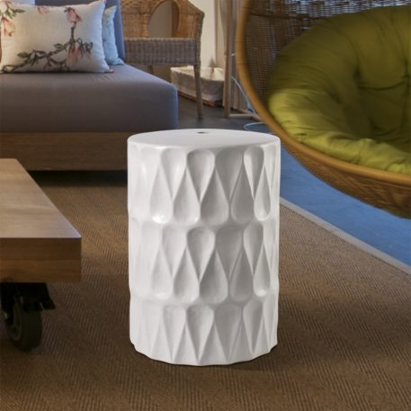 White Ceramic Garden Stools 4073