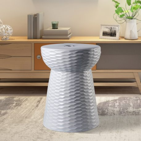 White Ceramic Garden Stools 4070