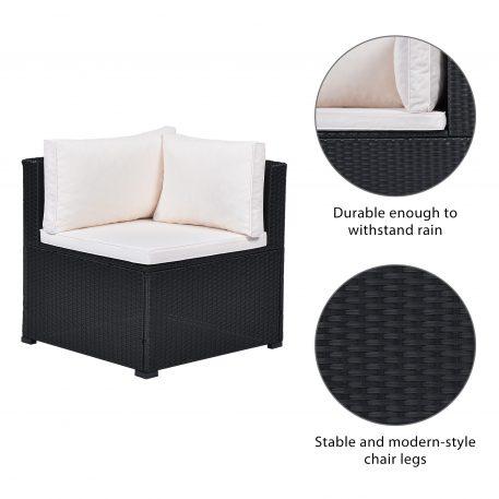 6-Piece Outdoor Furniture Set With PE Rattan Wicker