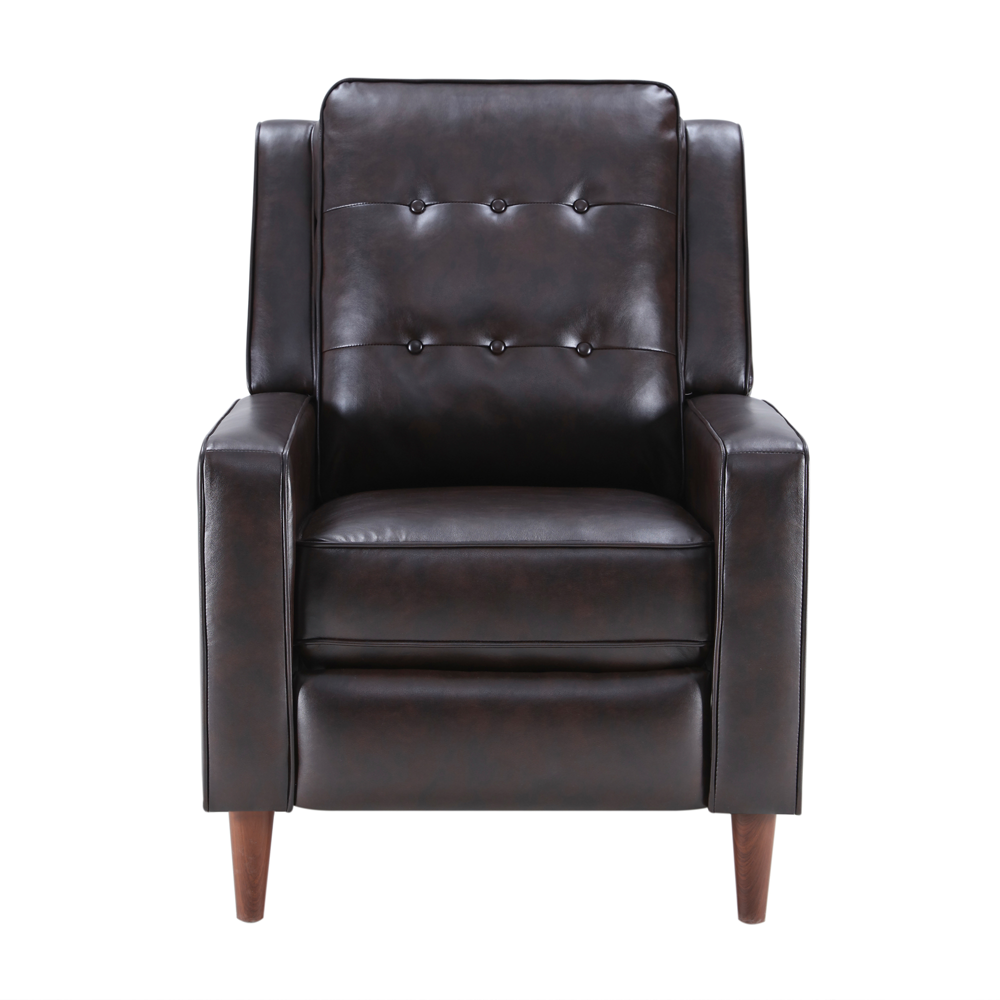 Push Back Recliner Manual Armchair With Medieval Style Accent Chair For Living Room, Bedroom, Home Office