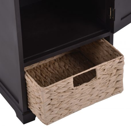 Vintage End Table With Basket