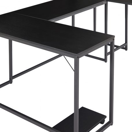U-Shaped Computer Desk With CPU Stand