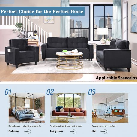 Morden Style Sectional Sofa Set - 1+3 Seat
