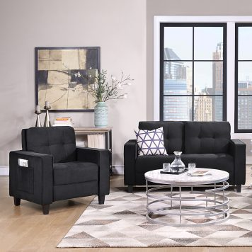 Morden Style Sectional Sofa Set - 1+2 Seat