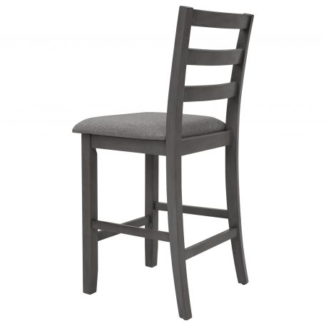 5-Piece Wooden Dining Set with Padded Chairs and Storage Shelving