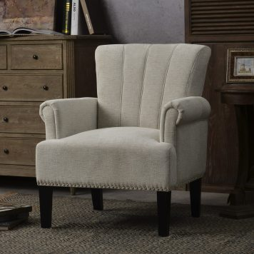 Accent Rivet Tufted Polyester Armchair