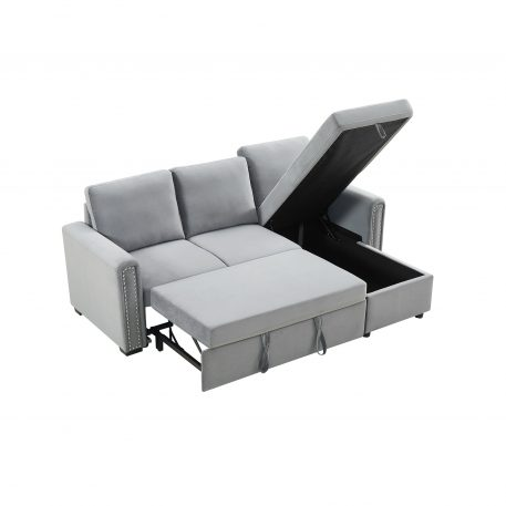 3-Seater L-Shape Corner Sofa-Bed With Storage