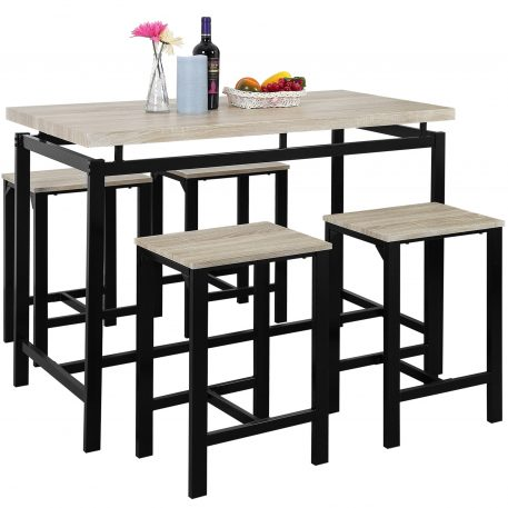 5 Piece Dining Set With Counter And Pub Height