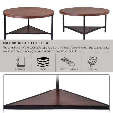 Industrial Design Round Coffee Table