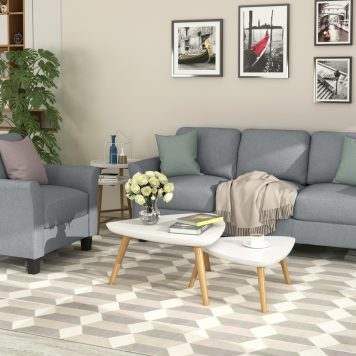 Single Chair And 3-Seat Sofa