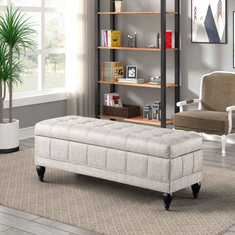 Unique Upholstered Storage Bench