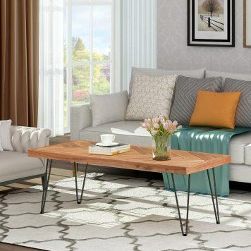 Modern Coffee Table, Nature Wood