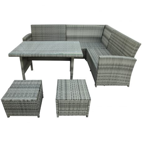 6 Piece Outdoor Sectional Sofa With Table