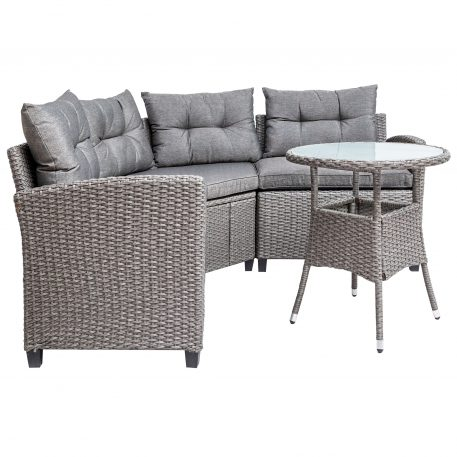 4 Piece Patio Furniture Set With Round Table