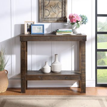 """39"""" Rustic Sqaure Accent Entryway Table"""