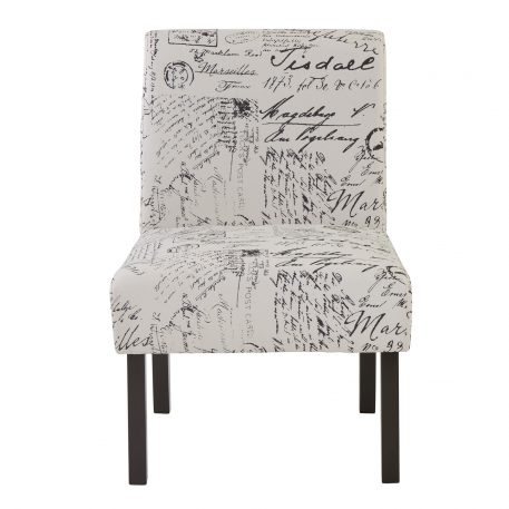 Upholstered  Armless  Accent Living Room Chair