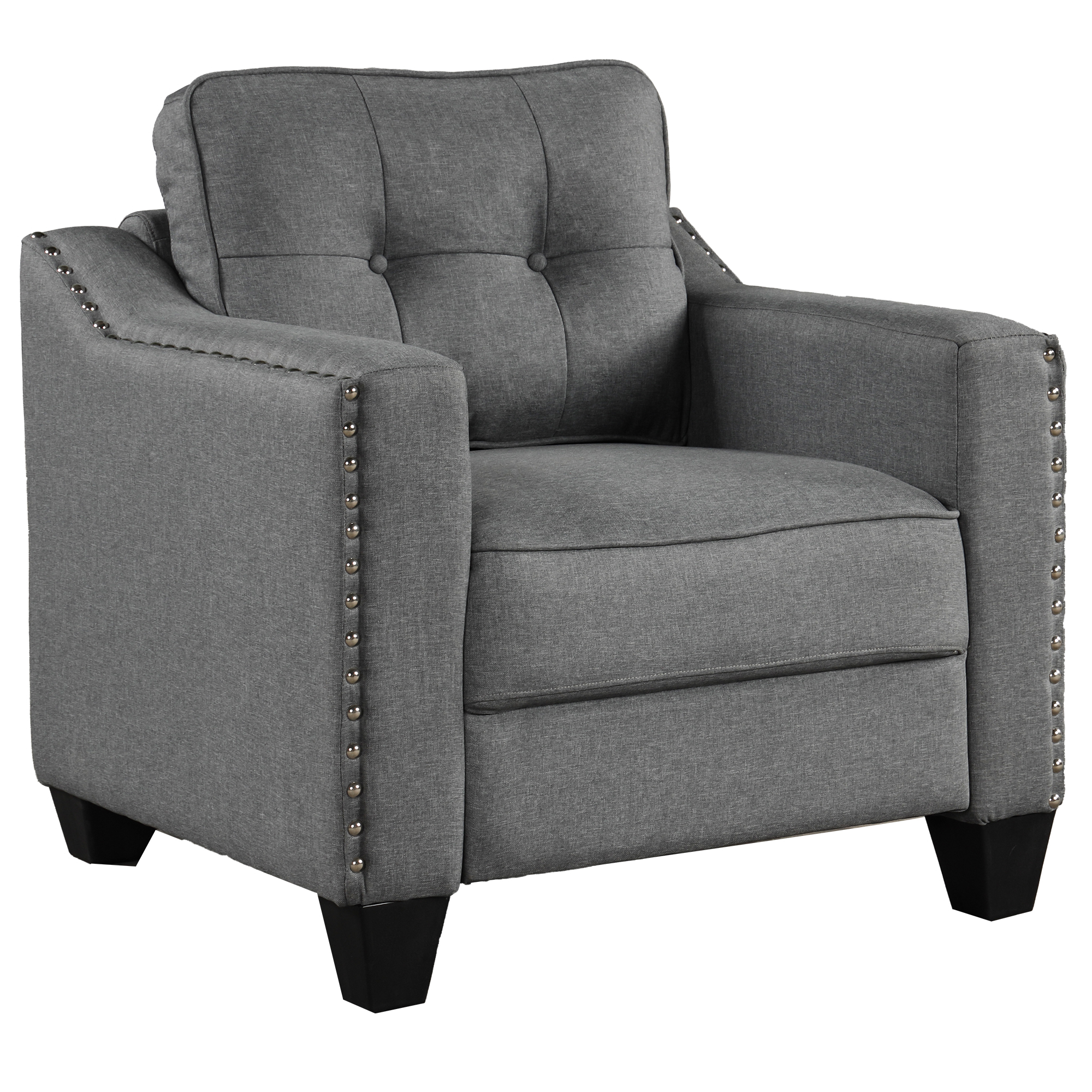 3 Piece Living Room Set With Tufted Cushions