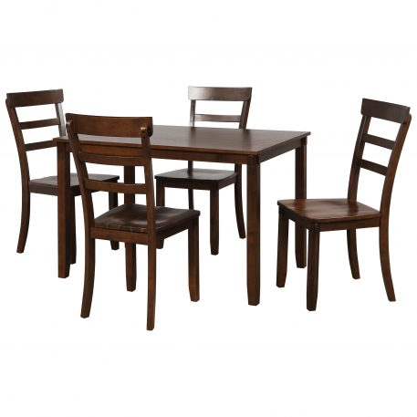 5-Piece Wood Kitchen Dining Table Set