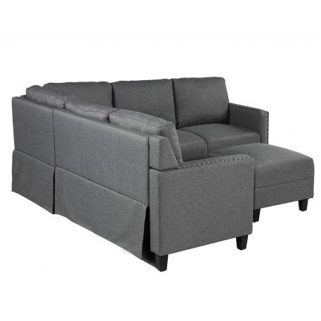 2 Piece Rivet Modern Upholstered Set