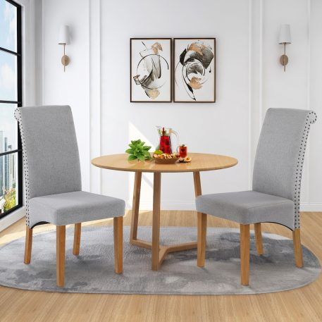 Fabric Padded Side Dining Chairs,Set Of 2