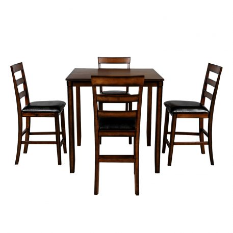 Square Dining Room Set With Table And 4 Chairs