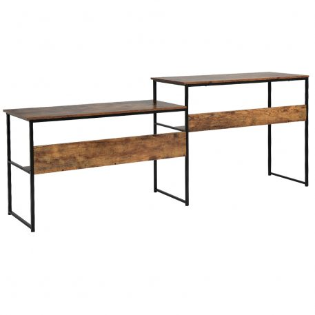 Extra Large Computer Desk With Open Storage Shelves